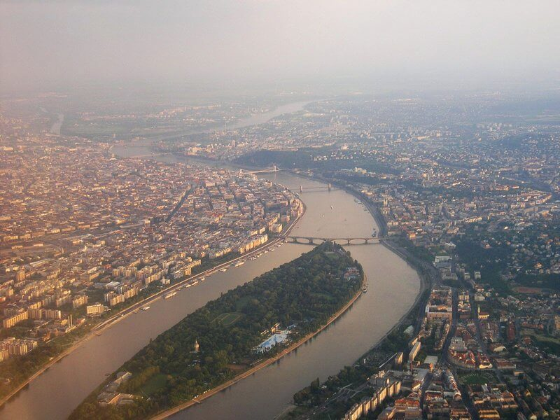 Budapest by air, Margaret island