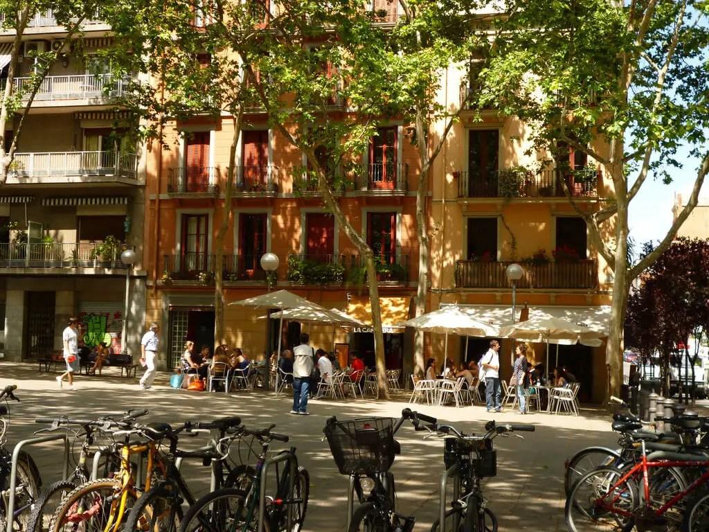 Placa de la Virreina in Gracia neighborhood, Barcelona