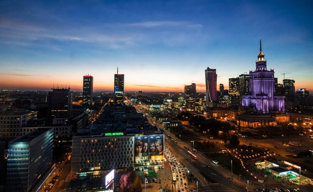 Night view of Warsaw, things to do