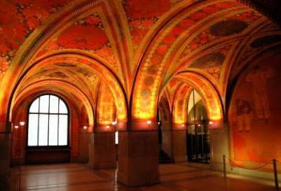 Холл Джиакометти, декор в подвале в Цюрихе