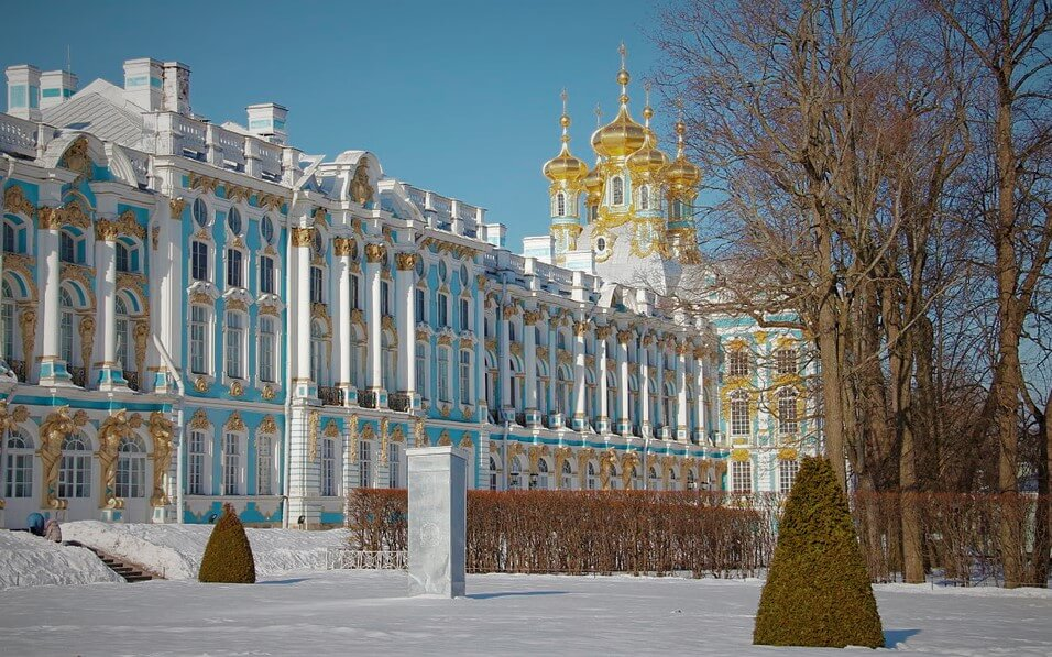 Петергоф, Санкт-Петербург зимой
