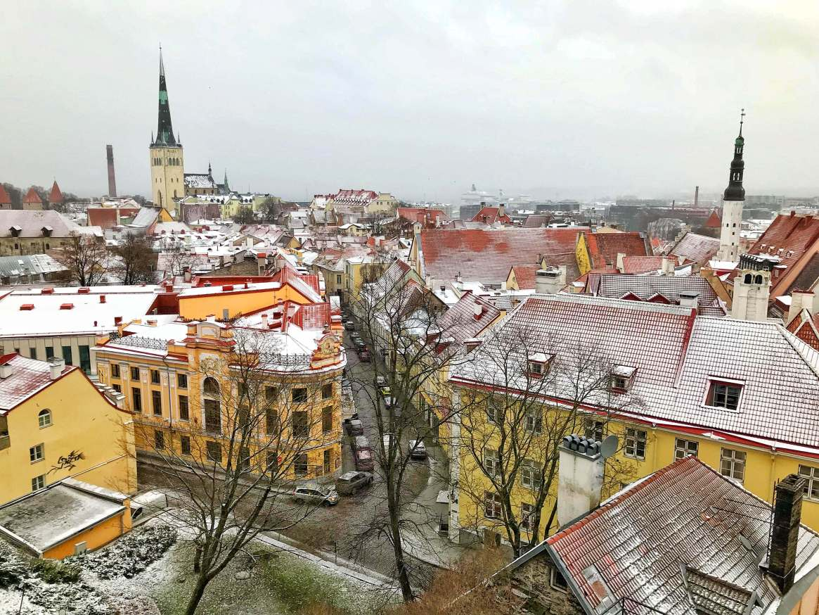 Зимняя панорама Таллинна