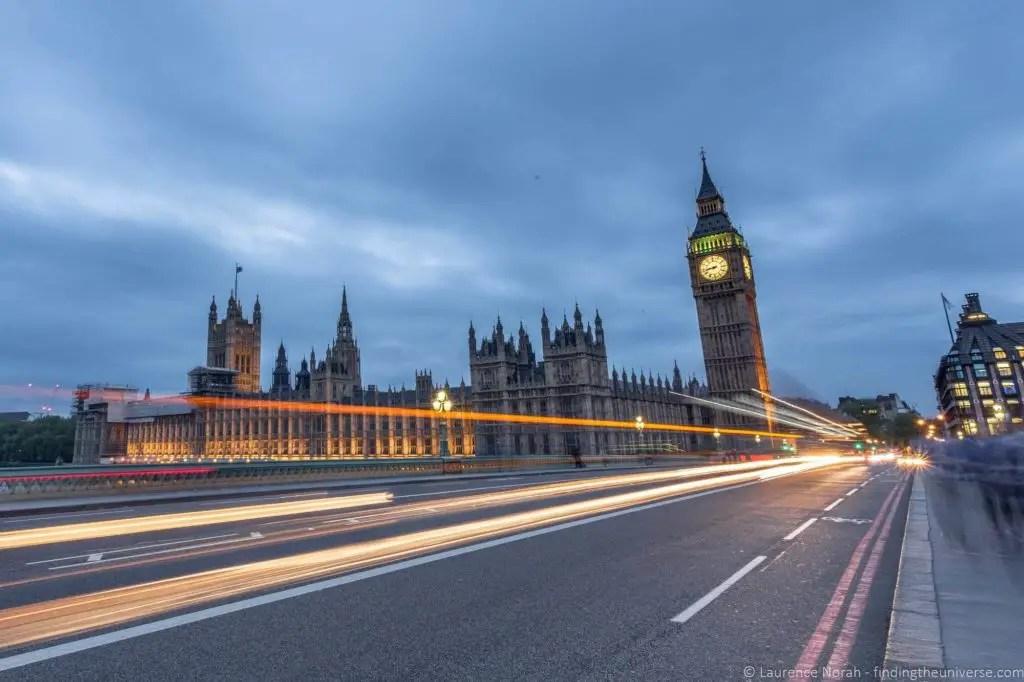Лондон вечером, лучшие города Европы для зимнего отдыха