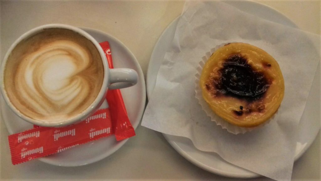 Coffee and pastel nata in Madeira during 10 day trip