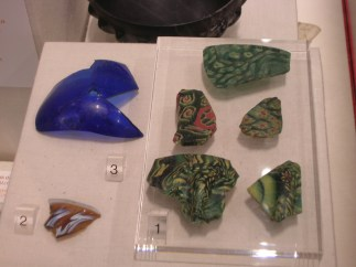 Caerleon museum - glass fragments