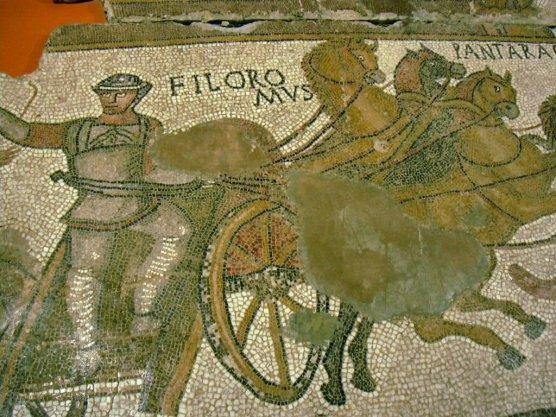 Girona museum - charioteer mosaic