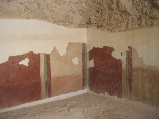 Masada bathhouse wall painting