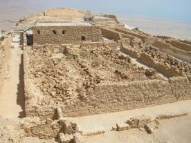 Masada unexcavated storerooms