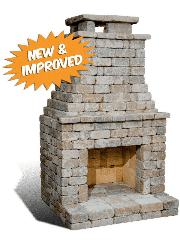 Fremont II outdoor fireplace kit  by Romanstone