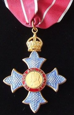 CBE with Military Ribbon