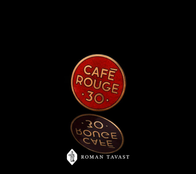 High-quality badges for Cafe Rouge
