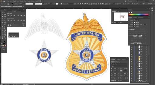 US Secret Service badge design
