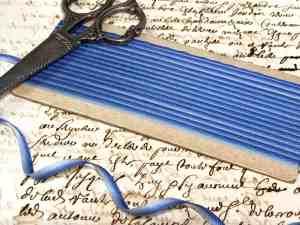 Blue ombré ribbon