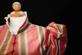 1895 Striped Day Dress