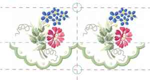 Matching embroidery borders  - simple end to end design