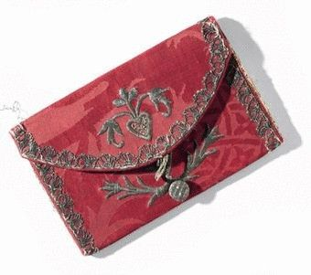 a-rare-early-18th-century-silk-damask-letter-case-with-fine-gold-thread-embroidery-motifs-symbolising-love