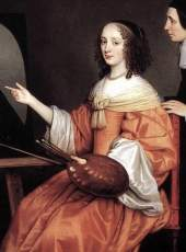 Detail of Margareta Maria de Roodere and Her Parents by Gerard van Honthorst, 1652