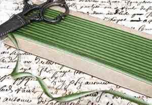 Green ombré ribbon