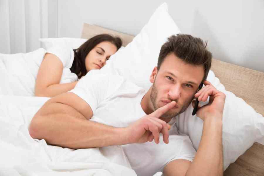 Husband Taking A Secret Phone Call