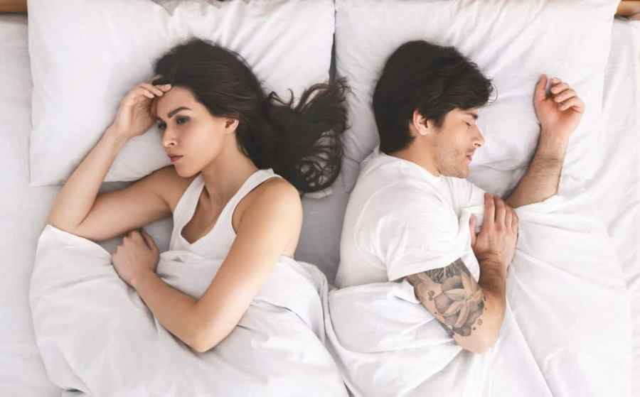 Wife Thinking While In Bed With Husband