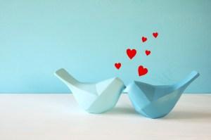 urocze, romantyczne ptaszki z serduszkami, prezent na rocznicę ślubu