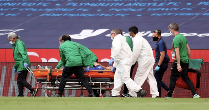 News Pedro stretchered off injured during Chelsea's FA Cup final  34 mins ago  John Solano