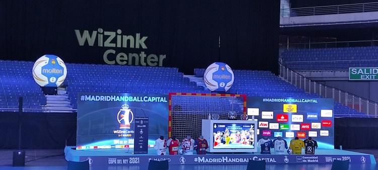 Pantalla LED presentación copa del rey balonmano