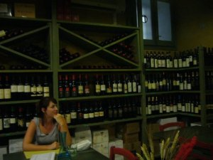 Lila scoping out a wine bar in Rome, Italy during her travels a few years ago