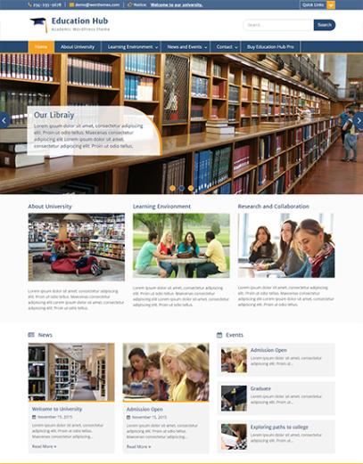 education hub wp theme