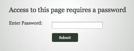 Password Halaman Blog