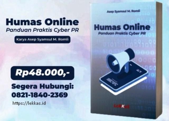 Buku Humas Online Panduan Praktis Cyber PR
