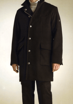 Men's overcoat by a custom tailor based in Bangkok, Thailand