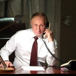 Putin on telephone