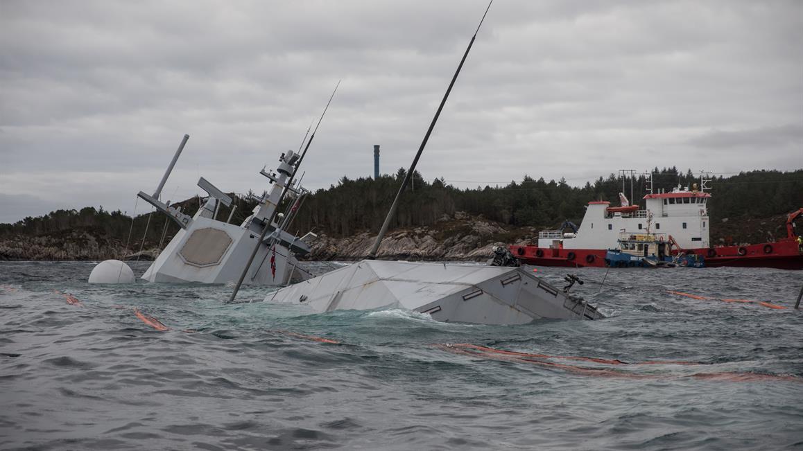 Helge Ingstad sunk
