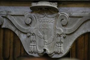 Stemma del cardinal Bessarione della basilica dei Ss. XII Apostoli (ph. credits http://www.gliscritti.it/blog/entry/1133)