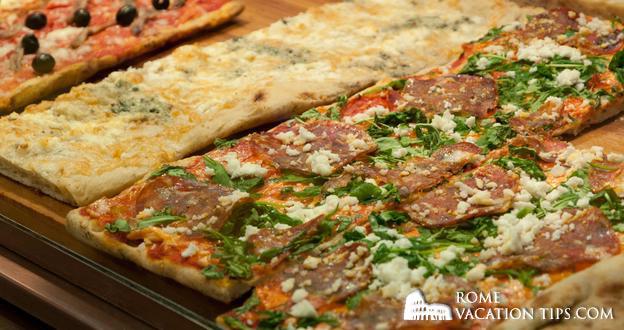 How do I buy a slice of pizza in Rome?