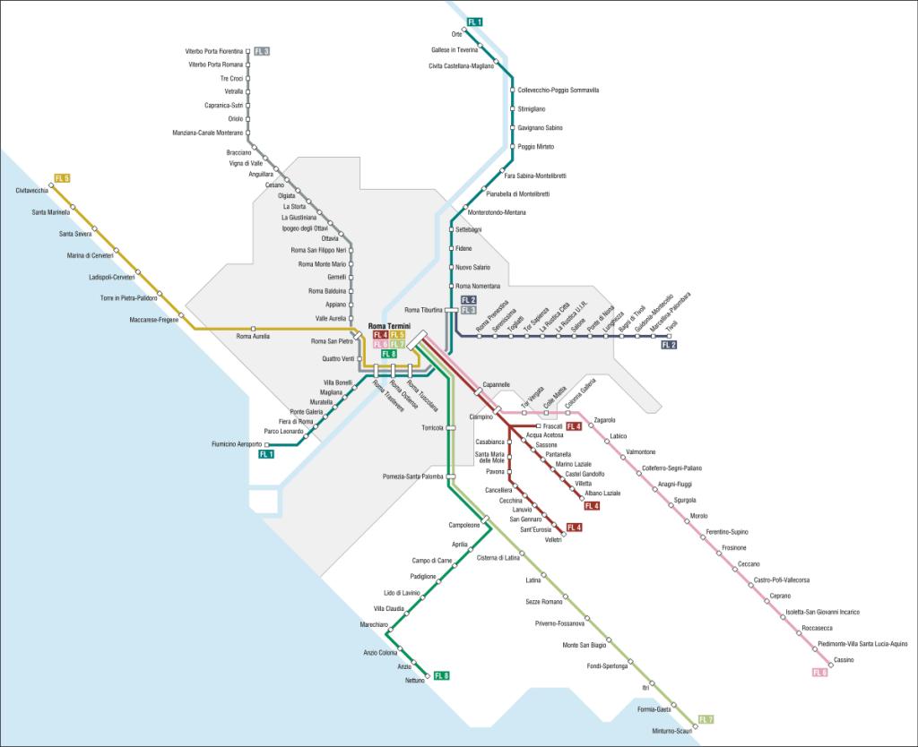 Lazio regional train routes - Rome Vacation Tips