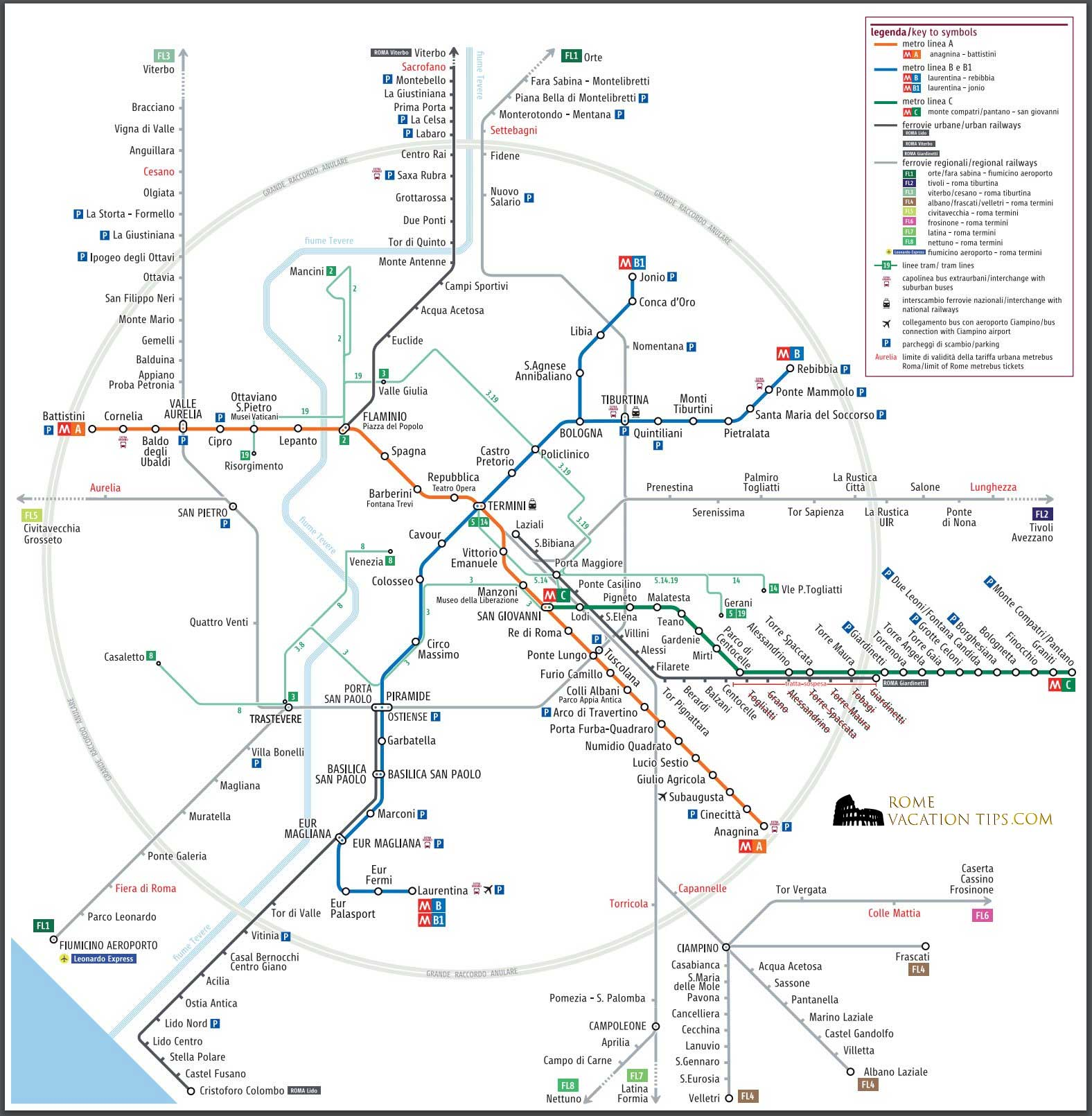 Subway Map Holiday.How To Use Rome S Public Transportation Network With Map Rome
