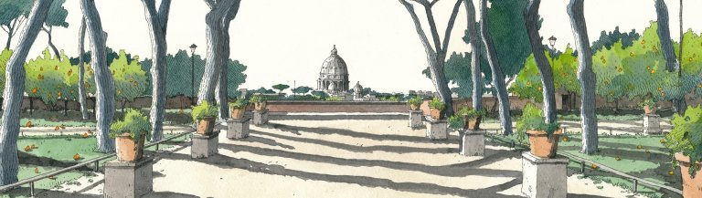 Garden of the Oranges drawn by Fabio Barilari