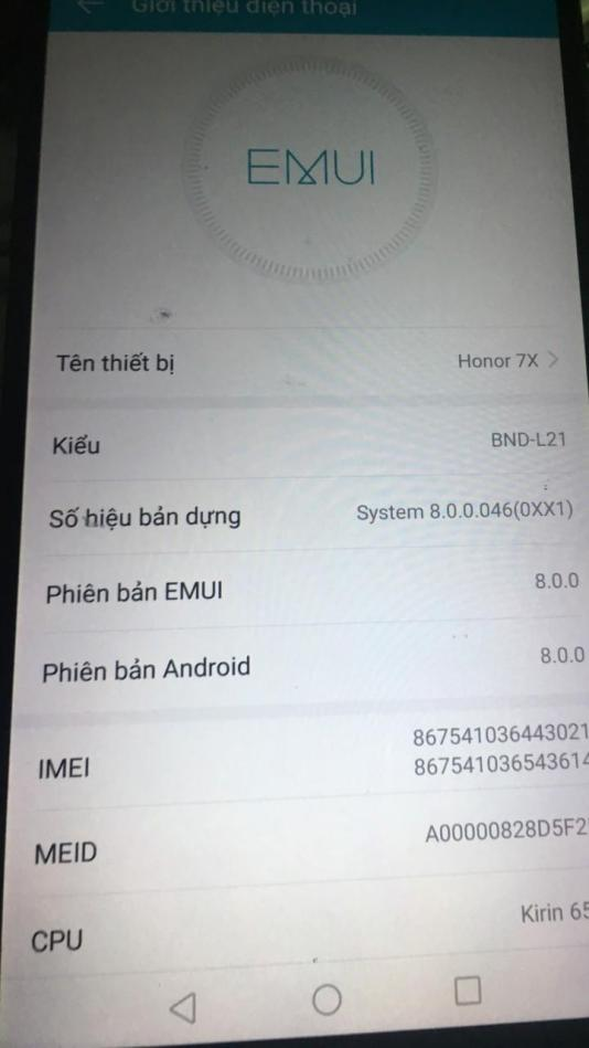 Honor 7X BND-AL10 Convert quốc tế done, full google play