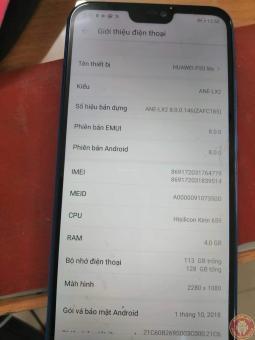 Huawei Nova 3e ANE-TL00 Convert quốc tế OK, full ngôn ngữ, google play