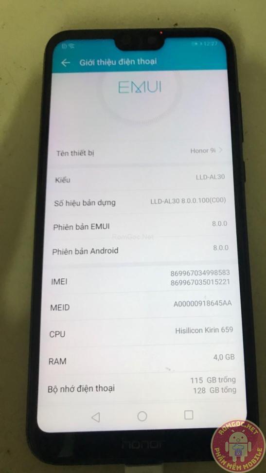 Honor 9i LLD-AL20 /AL30 xóa HUAWEI ID thành công| Honor 9i Remove Huawei ID