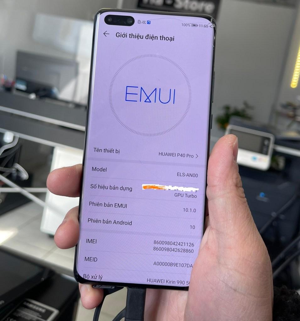 Xoá xác minh Huawei ID P40 Pro ELS-AN00 EMUI11