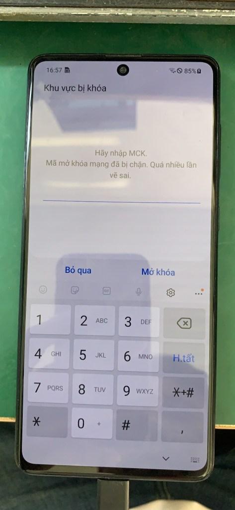 """Mở mạng Samsung Galaxy A71 (SM-A715F) """"hãy nhập MCK"""""""