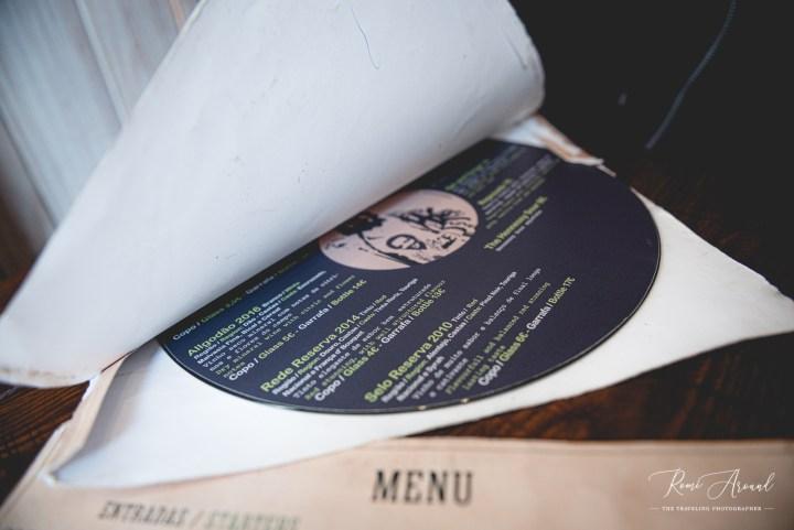 Vegan Junkies record player menu