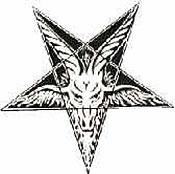 Pentalfa capovolto satanico