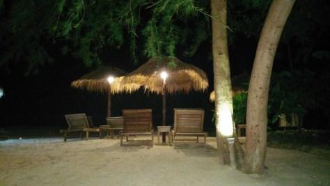 Odres Beach por la noche