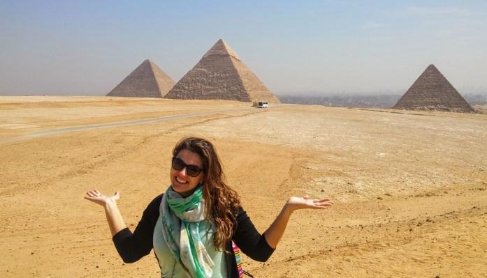 @rominitaviajera en las Piramides de Guiza, El Cairo, Egipto, marzo 2016