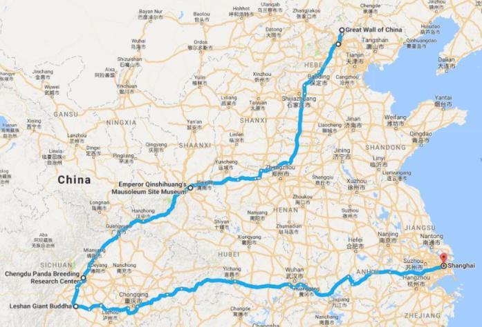Ruta del Viaje a China, 2017, rominitaviajera.com
