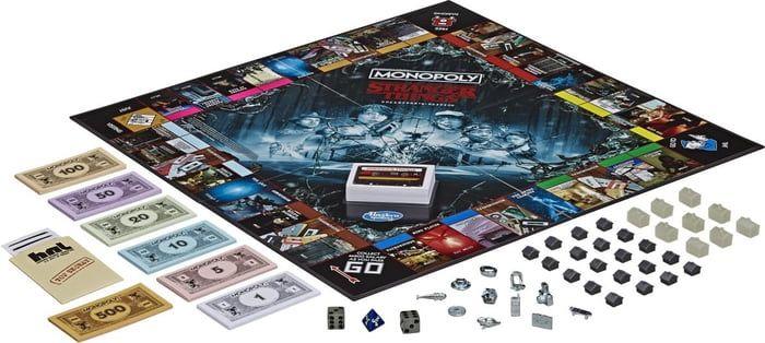 Tabuleiro da edição de colecionador de Monopoly Stranger Things